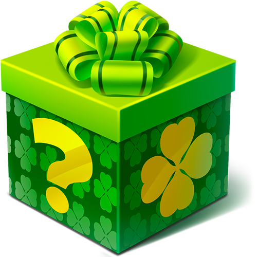 Green Shamrock Mystery Box
